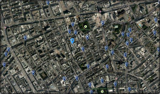 موقع فندق ذا سوهو لندن